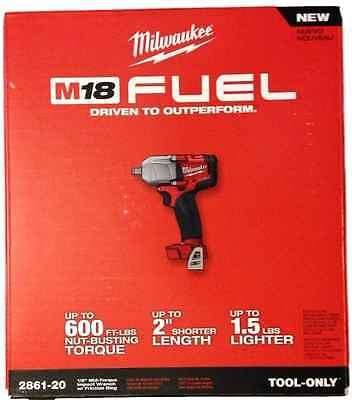 New Milwaukee Fuel M18 2861-20 18V Li-ion 1/2