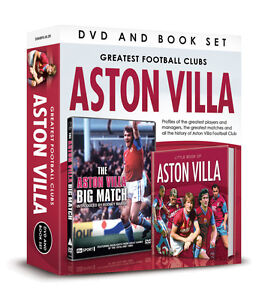 GREATEST FOOTBALL CLUBS ASTON VILLA BIG MATCH Birmingham '75 DVD & BOOK GIFT SET