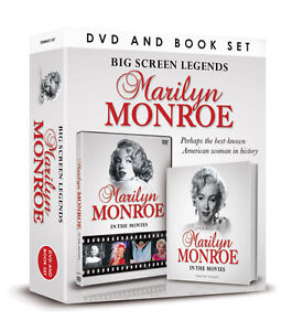 BIG SCREEN LEGENDS MARILYN MONROE IN THE MOVIES DOCUMENTARY DVD & BOOK GIFT SET