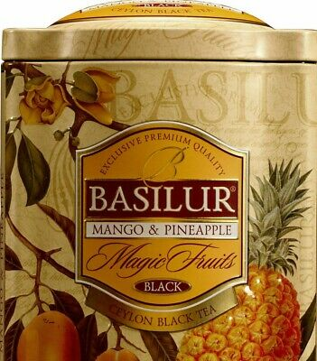 Basilur Magic Fruit Mango and Pineapple Ceylon Loose Leaf Tea 100g Tin Caddy