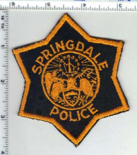 Springdale Police (Arkansas) 2nd Issue Shoulder Patch