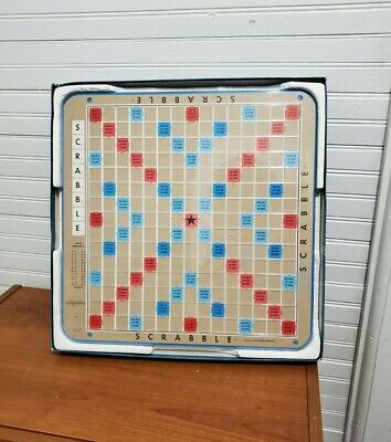 Vintage Scrabble Deluxe Edition #7176 Turntable Board Game Selchow & Righter