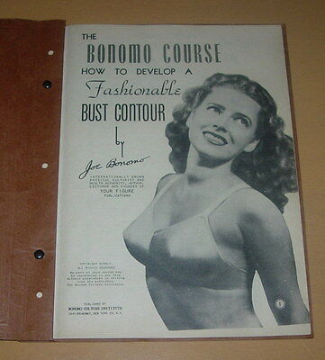 BONOMO COURSE IN FASHIONABLE BUST CONTOUR  1945  HOLLYWOOD  64 PAGE BOOKLET