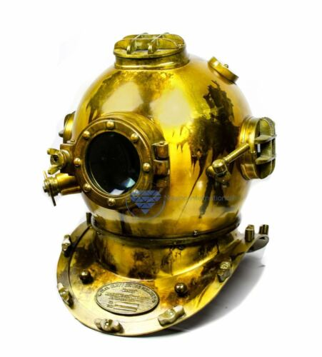Antique Brass Scuba Diving Nautical Helmet | Maritime Ship
