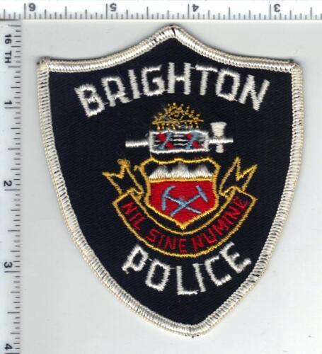 Brighton Police (Colorado) Shoulder Patch - from the 1980