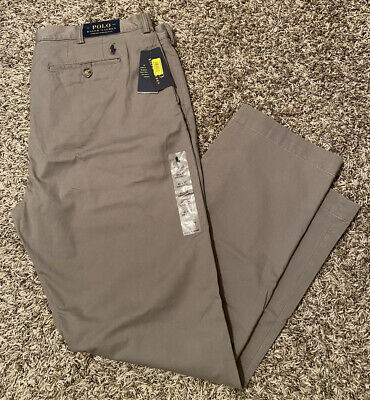 NEW Polo Ralph Lauren Classic Fit Men's Flat Front Chino Pants Gray Size 40x32