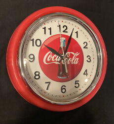 Vintage Coca Cola Wall Clock Collectible Round Red Coke Cap Clock