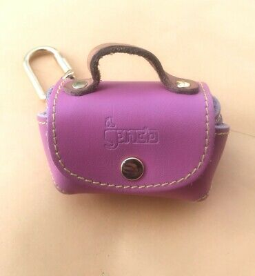 Italian Leather Keychain - Pink Leather Il Gancio Italian Leather Coin Purse Keychain from Rome