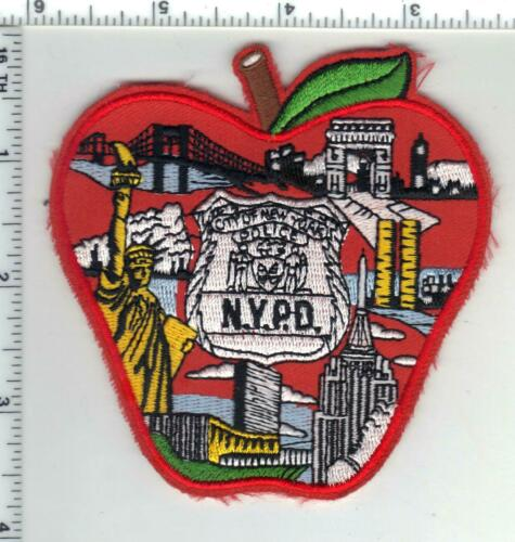 City of New York Police Red Apple Novelty Shoulder Patch from the 1990