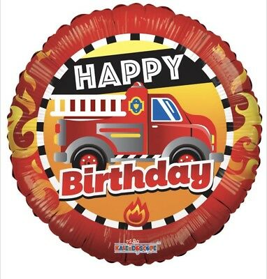 Happy Birthday Fire Truck 18