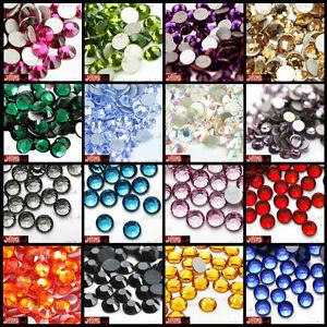 Genuine-Crystal-Beads-Quality-Foiled-Flat-Back-NOT-Acrylic-Rhinestone