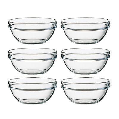 Arcoroc Stapelschale, transparent, H 6,5 cm, Ø 14 cm, 6 Stk. - Glasschale