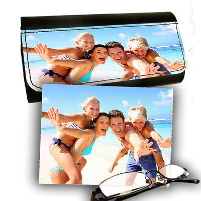 Personalised Photo Reading Glasses PictaLetather Case With Lens Cleaning (Personalised Glasses Case)