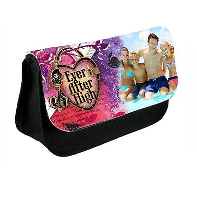 Personalised Photo Ever After High Black Canvas Pencil Case Or Make-Up Bag - Ever After High Makeup