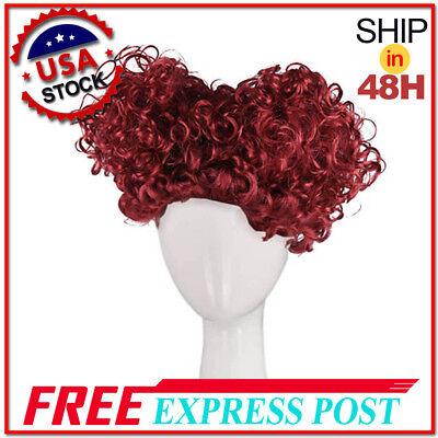 Alice in Wonderland New Queen of Hearts Burgundy Red Queen Short Afro Curly Wig - Alice In Wonderland Wig