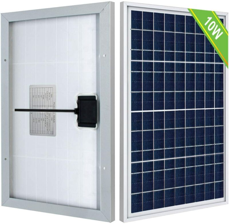 10W Watt 12Volt Solar Panel High Efficiency Battery Charge Battery Maintainer