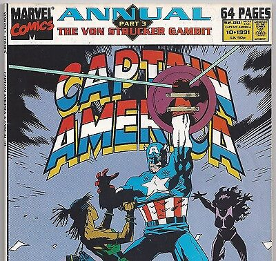 Captain America Annual #10 with Nick Fury from 1991 in Fine Avengers DM