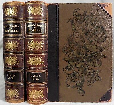 Universal-Lexikon der Kochkunst. 2 Bände. ca.1900