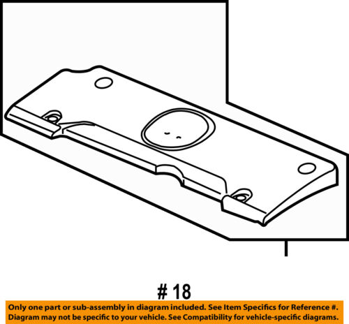 Acura HONDA OEM 09-14 TSX Engine Parts-Cover Plate