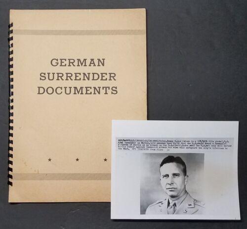 WWII GERMAN Surrender Documents Belonged to 4-Star General & CMDR US Army Europe
