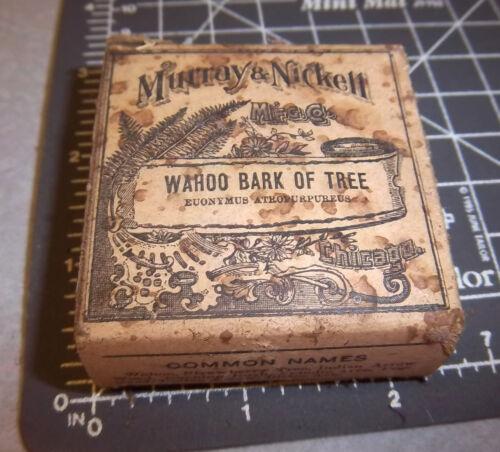 Vintage Murray & Nickell, Wahoo Bark of tree, 1900s Pharmacy New unopened box