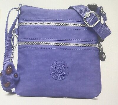 Genuine Kipling Alvar XS Shoulder/Crossbody Mini Bag In Bold Purple