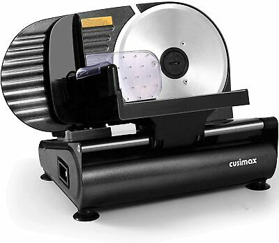 Cusimax Meat Slicer 200w Electric Deli Food Slicer With 7.5 Removable Stain...