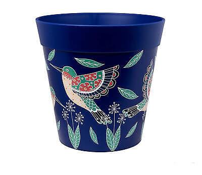Hum Flowerpots Blue Hummingbird plant pot, outdoor/indoor planter 22cm x 22cm…
