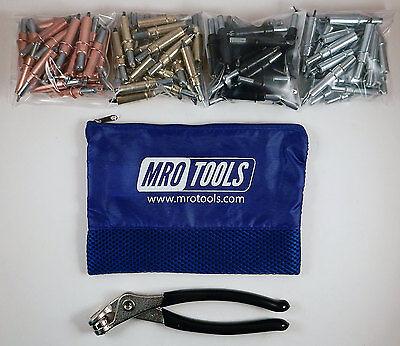 K-series Starter Cleco Sheet Metal Fastener Kit W Mesh Carry Bag K5s100