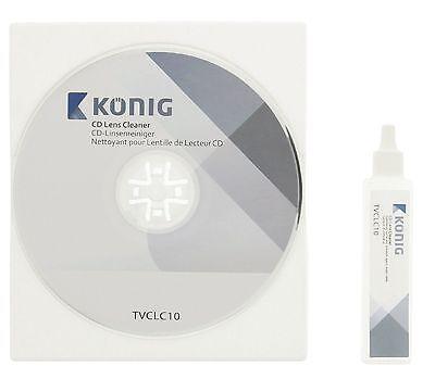 Laufwerk u. Laser Linsen Reinigungs CD + Flüssigkeit für CD DVD Blu-Ray Spieler