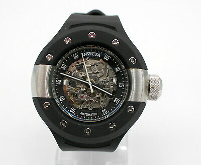 INVICTA S1 RALLY 0869 AUTOMATIC SKELETON DAIL BLACK POLYURETHANE MEN'S WATCH