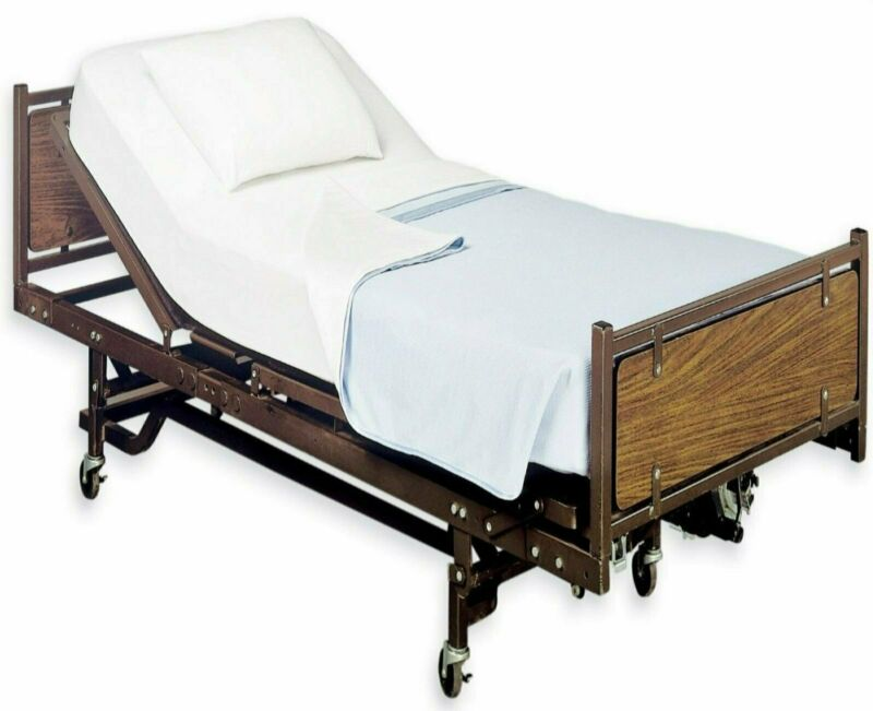 """White Classic Fitted Hospital Bed Sheets, Soft Knitted Jersey Knit Sheet, 36""""x84"""