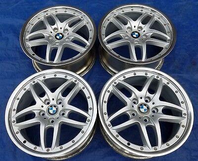 "BMW E36 46 M3 OEM Cromodora Style 71 Staggered 18"" Polished 2-Piece Wheels Rims"