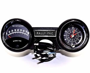 mustang rally pac parts & accessories ebay on Speakers Wiring Diagram for 1964 1965 ford mustang rally pac kit v8 w 8000 rpm at Ford Ignition System Wiring Diagram
