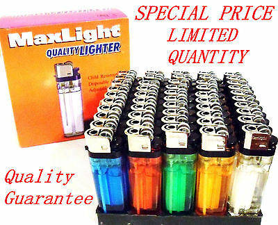 LOT OF 50 DISPOSABLE CIGARETTE LIGHTERS WHOLESALE PRICE