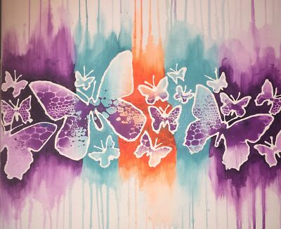 Butterfly canvas bright colours  Gympie Gympie Area Preview
