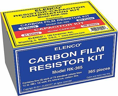 Elenco Rck-465 Resistorcapacitor Combo Kit New
