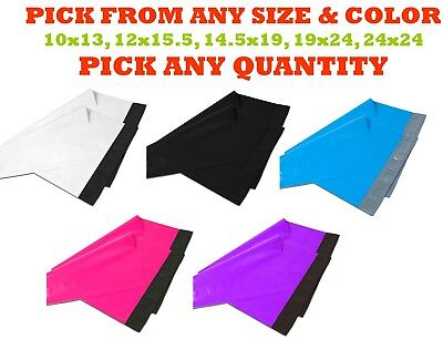 POLY MAILERS Shipping Envelopes Plastic Mailing Bags Sealing White Black Large White Mailing Seals