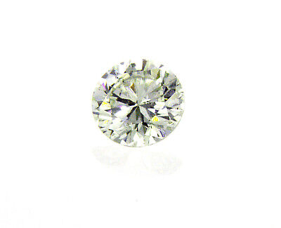 Diamond Round Cut Loose Rare Natural Fancy Green 0.18 CT SI2 GIA Certified