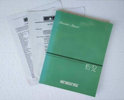 Ensoniq KS-32 synthesizer original English owner