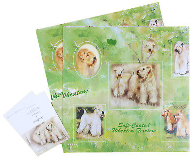 Wheaten Terrier Dog for all Occasions Wrapping Gift Paper 2 Sheets 2 Tags