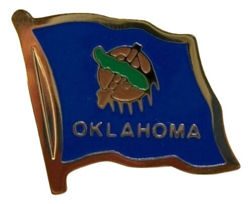 Oklahoma State Flag Outline Hat Tac or Lapel Pin