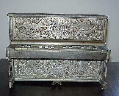 "CIRCA 1900  ""PIANO"" CAST IRON STILL BANK - VERY RARE, VERY NICE"