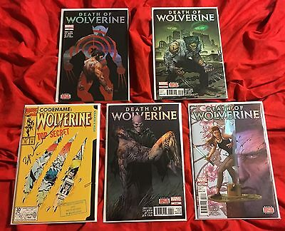 DEATH OF WOLVERINE 1,2,3,4~COMPLETE SET/STORY+#50 SIGNED SIENKIEWICZ~LOGAN MOVIE