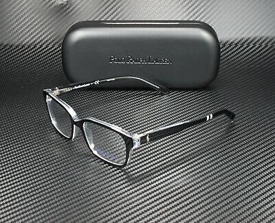RALPH LAUREN POLO PREP PP8520 541 Black Crystal Demo Lens 48 mm Men's Eyeglasses