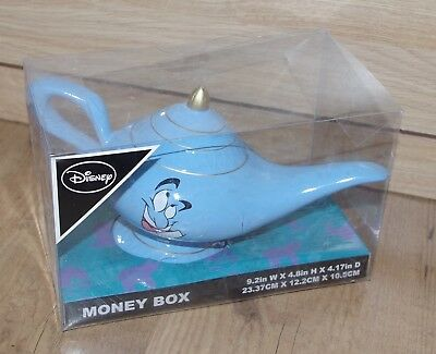 Disney Aladdin Ceramic real Money Box Genie Lamp Jasmine