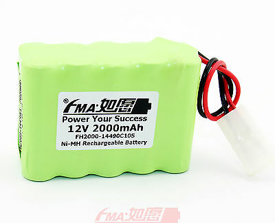 Ni-MH Nickel Metal-Hydride Rechargeable Battery 12V 2000mAh For toys KET AA_10SX ()