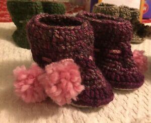 Handmade wool baby boots