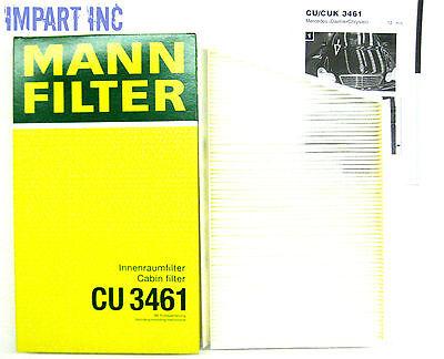 Mercedes Fresh Air Cabin Filter 203 830 01 18  MANN CU3461 Fresh Air Filter