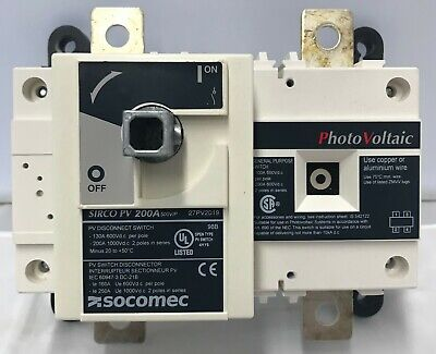 Socomec Dc Disconnect Switch 27pv2019